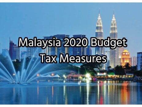 Malaysia Budget 2020 Tax Measures