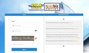 ezbiz sign-in page