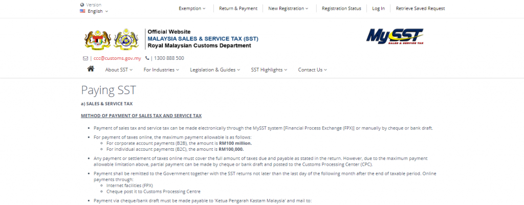 Pay SST Malaysia